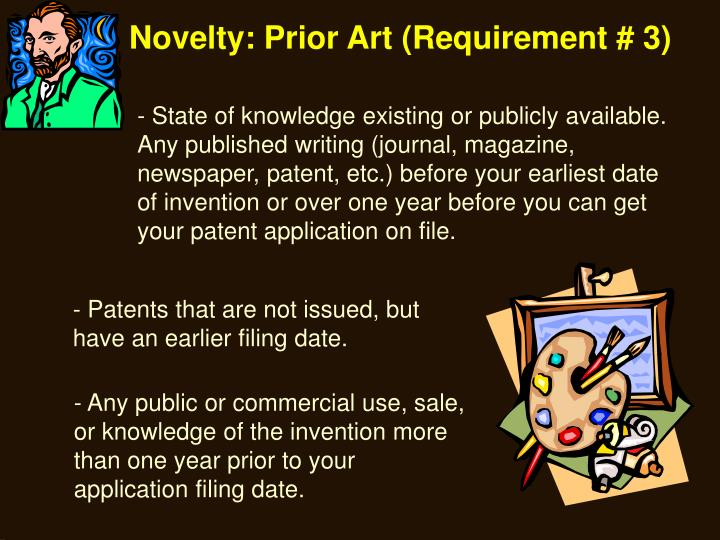 Novelty: Prior Art (Requirement # 3)