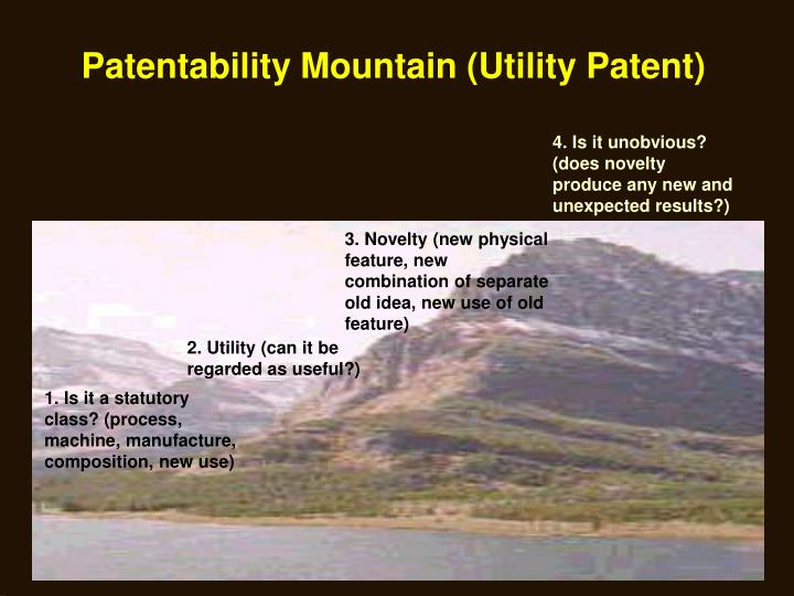Patentability Mountain (Utility Patent)