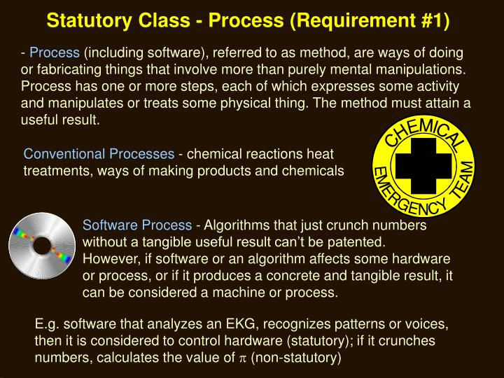 Statutory Class - Process (Requirement #1)