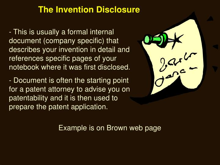 The Invention Disclosure
