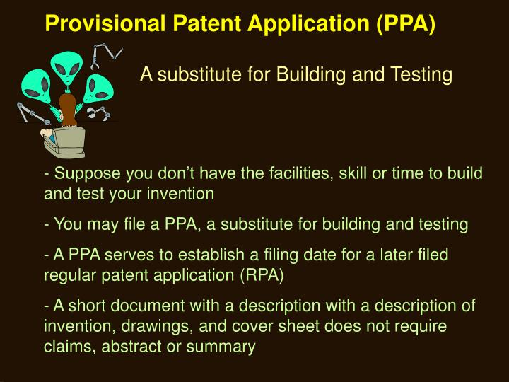 Provisional Patent Application (PPA)