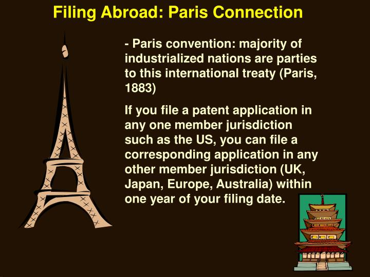 Filing Abroad: Paris Connection