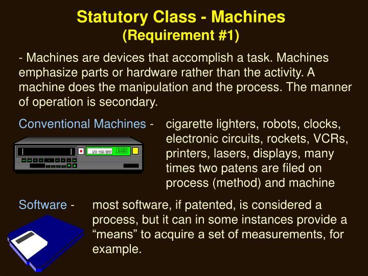 Statutory Class - Machines