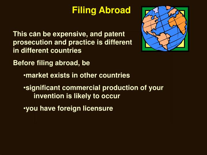 Filing Abroad