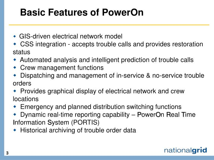 Basic Features of PowerOn
