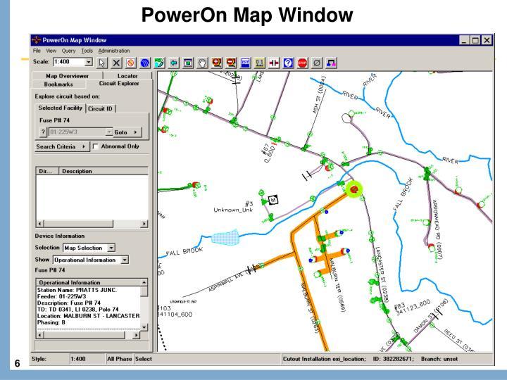 PowerOn Map Window