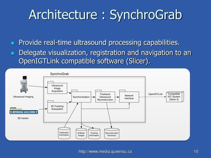 Architecture : SynchroGrab