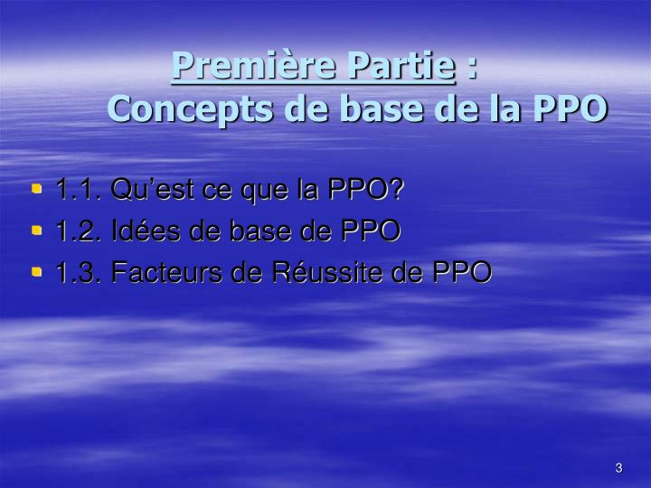Premi re partie concepts de base de la ppo