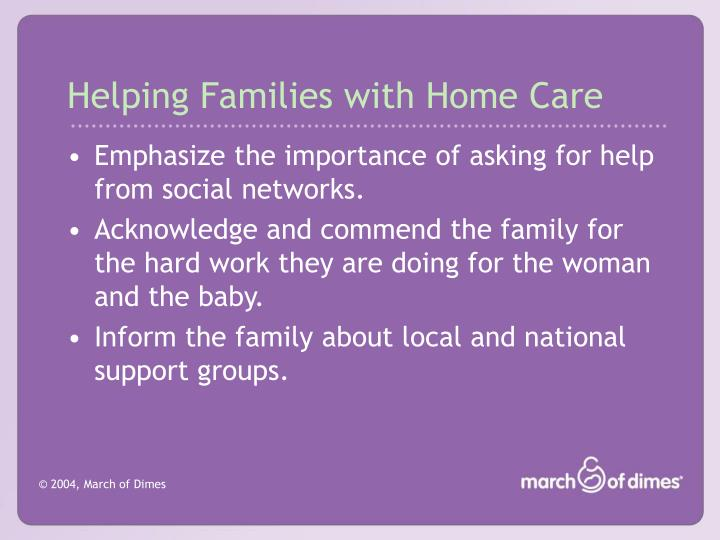 Helping Families with Home Care