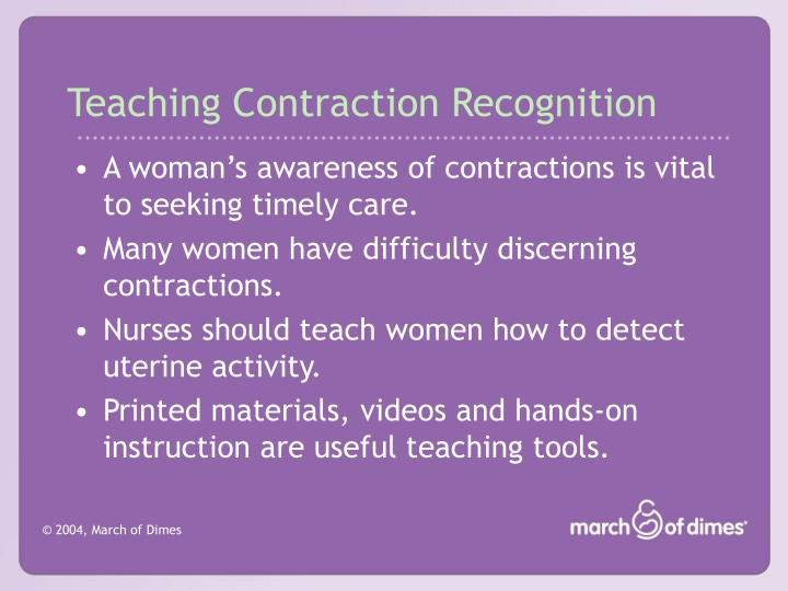 Teaching Contraction Recognition