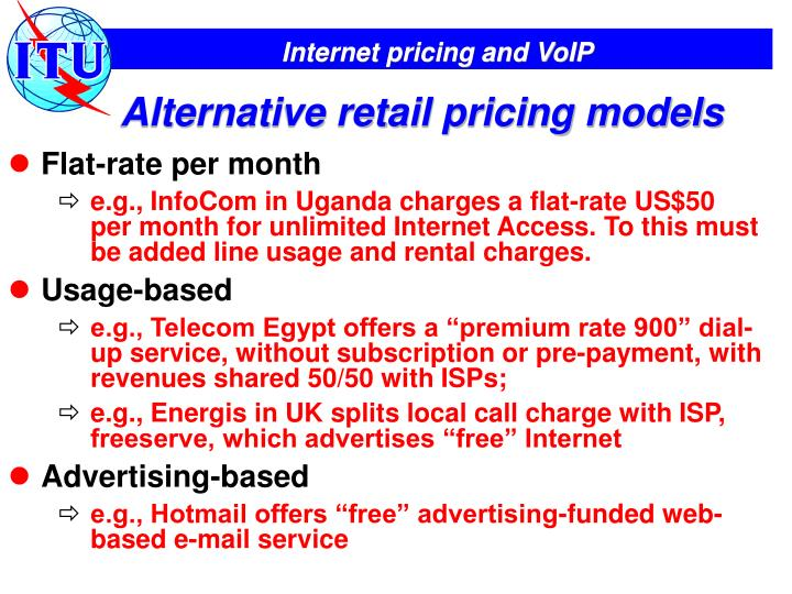 Alternative retail pricing models