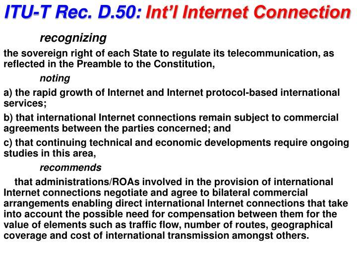 ITU-T Rec. D.50: