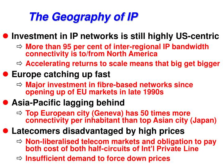 The Geography of IP
