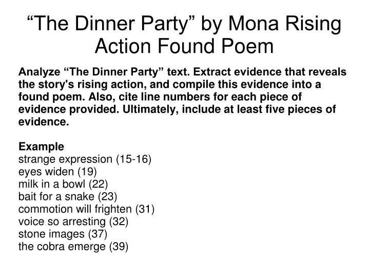 the dinner party mona gardner These 10 questions are for the short story the dinner party by mona gardner detailed key included.