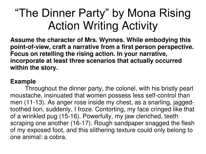 point of view of the dinner party by mona gardner Download presentation powerpoint slideshow about 'unit 1 the dinner party' - ciqala download now an image/link below is provided (as is) to download presentation.