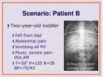 scenario patient b1