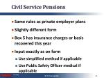 civil service pensions