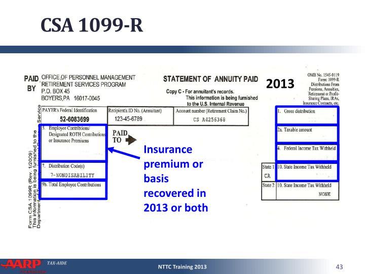 CSA 1099-R
