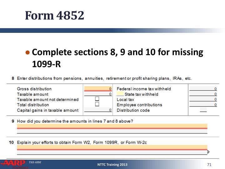 Form 4852