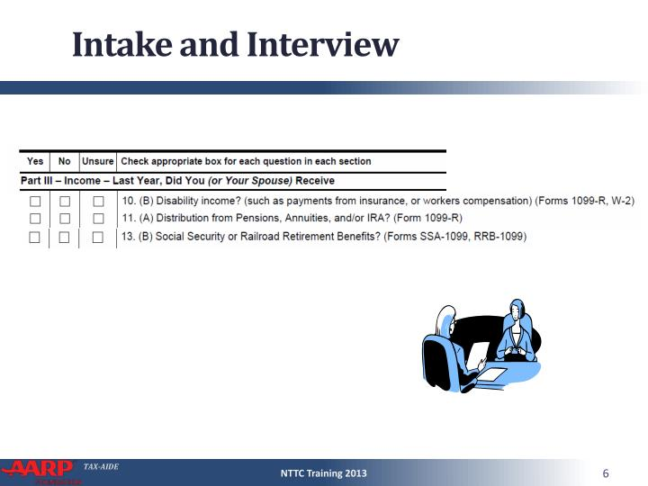 Intake and Interview