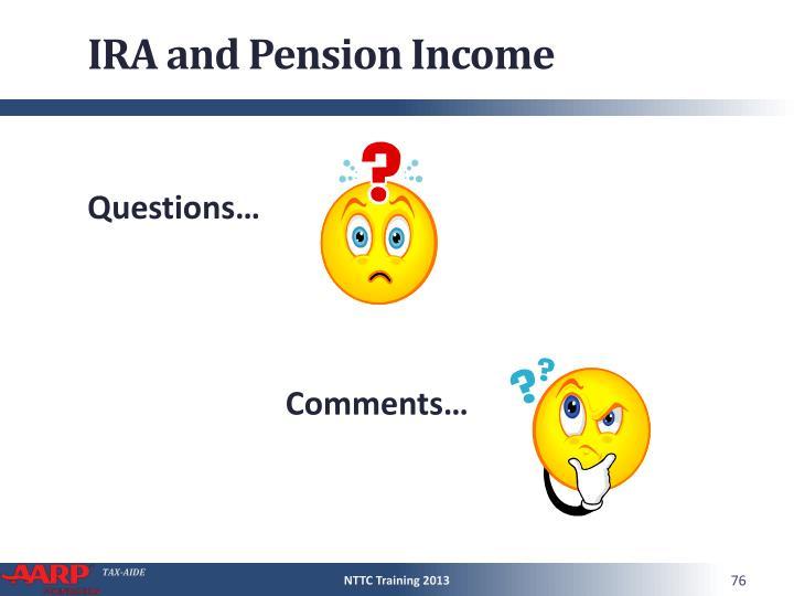 IRA and Pension Income