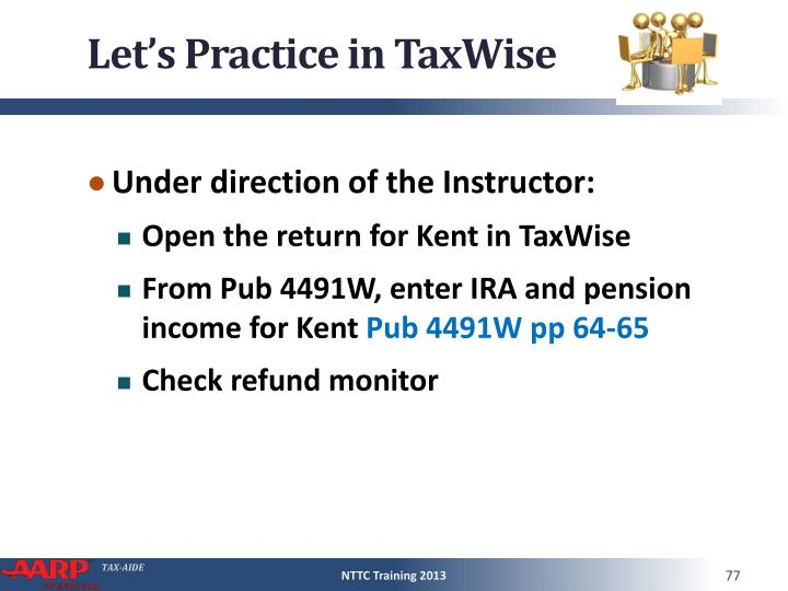 Let's Practice in TaxWise