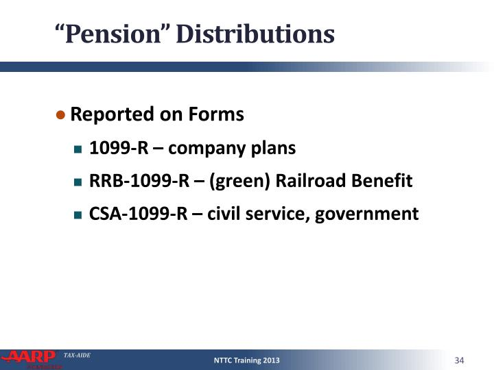"""Pension"" Distributions"