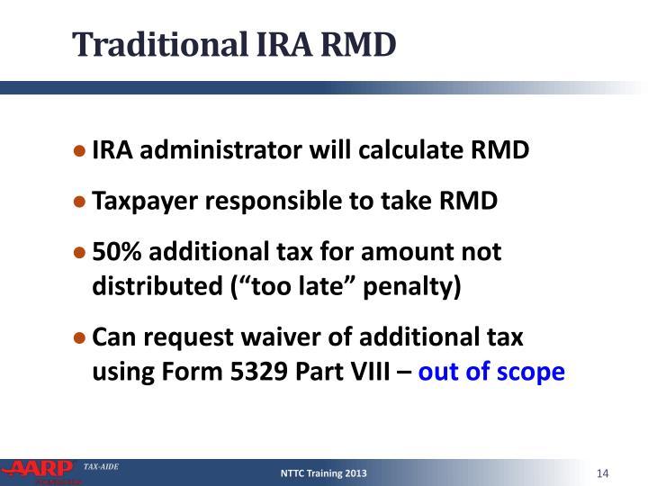 Traditional IRA RMD