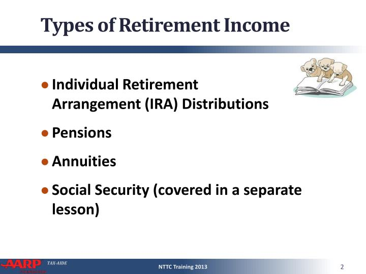 Types of retirement income