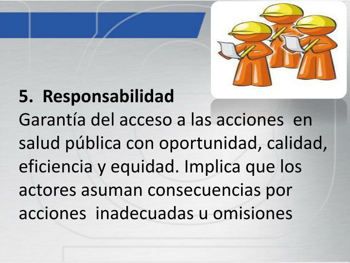 5.  Responsabilidad