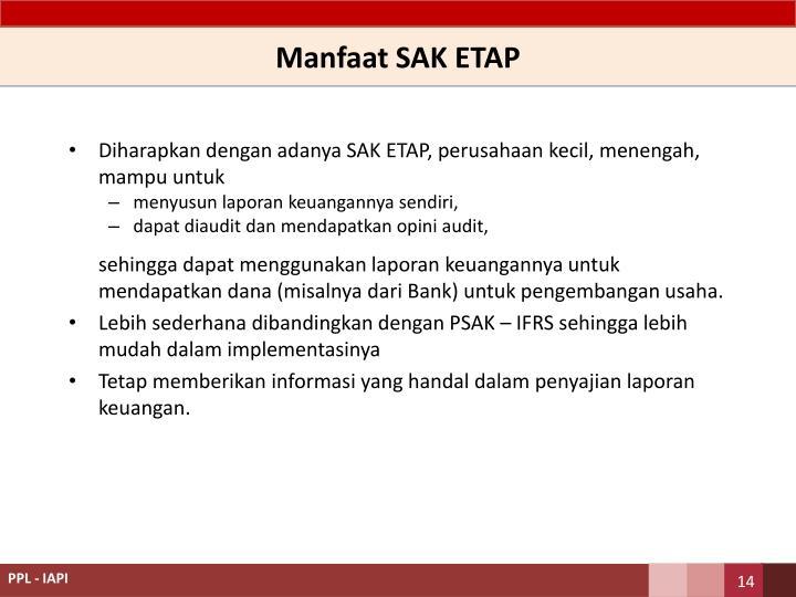 Manfaat SAK ETAP