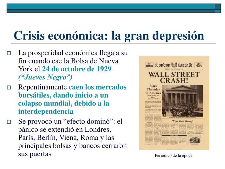 Crisis económica: la gran depresión