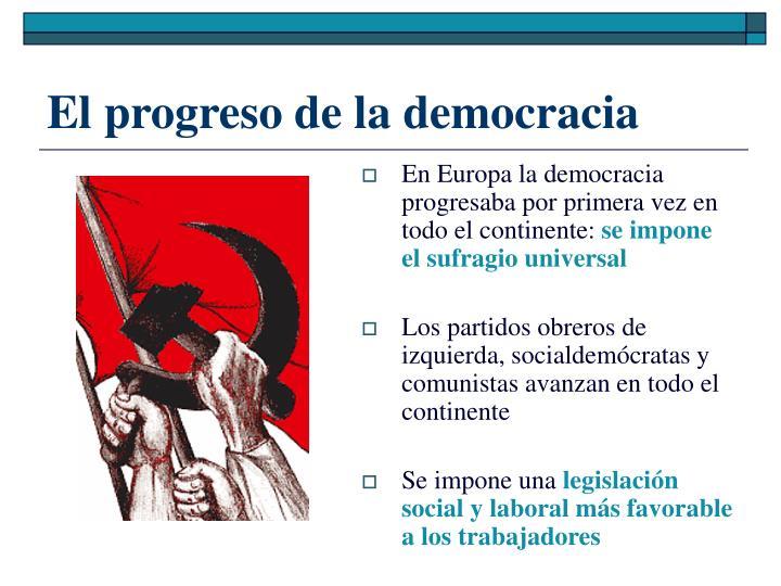 El progreso de la democracia