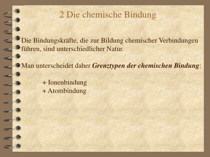 Die Bindungskräfte, die zur Bildung chemischer Verbindungen