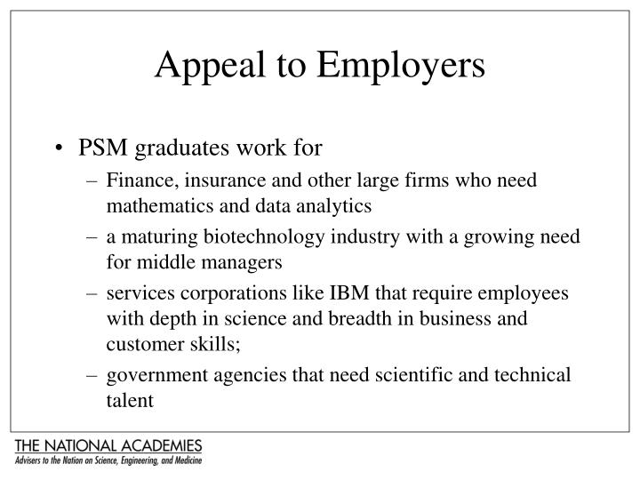 Appeal to Employers