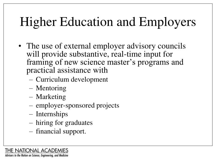 Higher Education and Employers