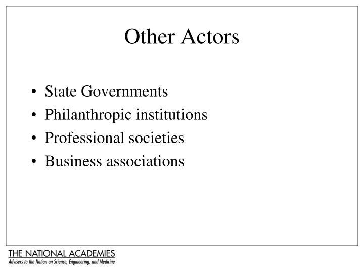 Other Actors