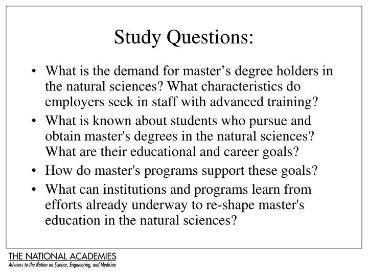 Study Questions: