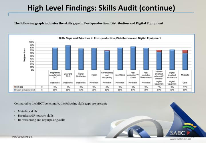 High Level Findings: Skills Audit (continue)