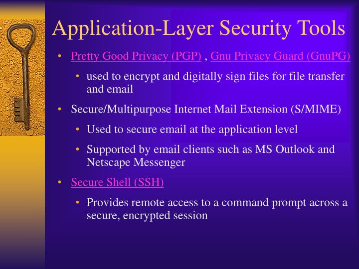 Application-Layer Security Tools