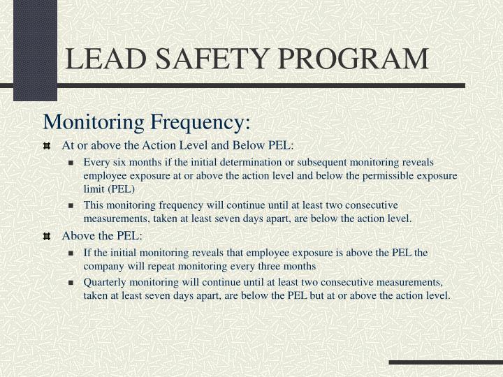 LEAD SAFETY PROGRAM