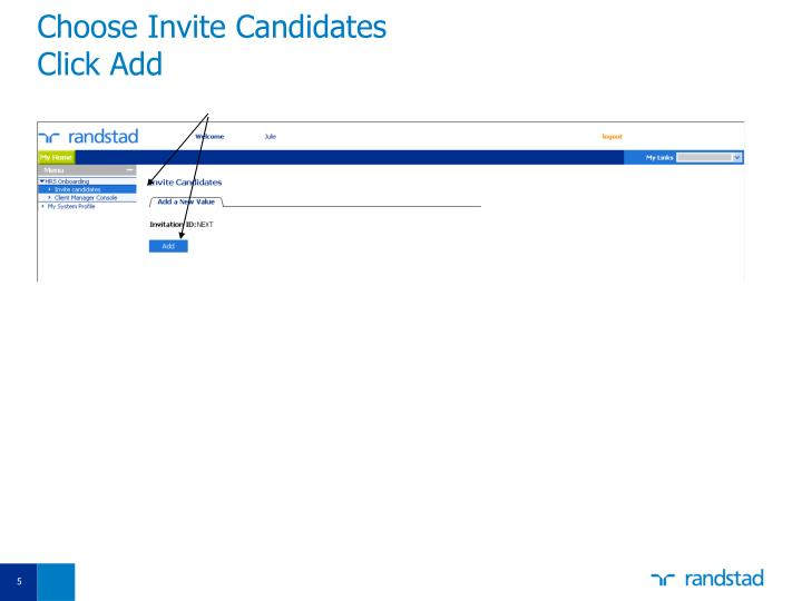 Choose Invite Candidates