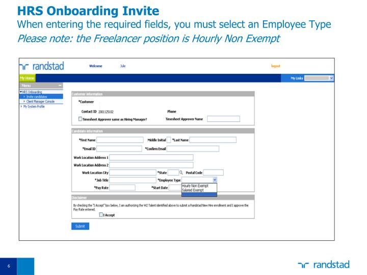 HRS Onboarding Invite