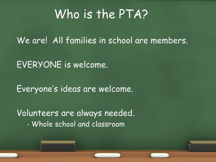 Who is the PTA?