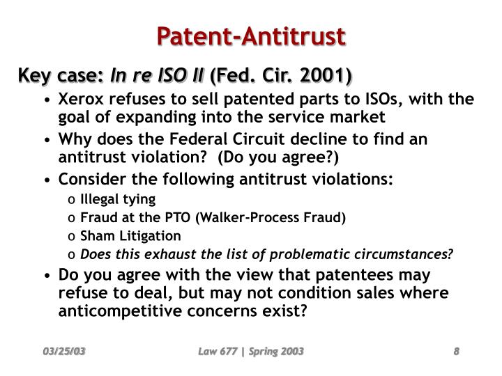 Patent-Antitrust