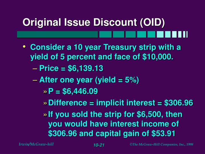 Original Issue Discount (OID)