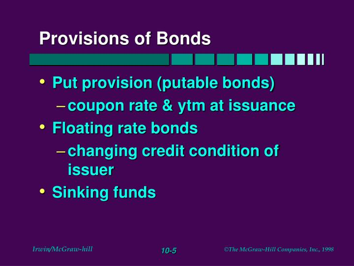 Provisions of Bonds
