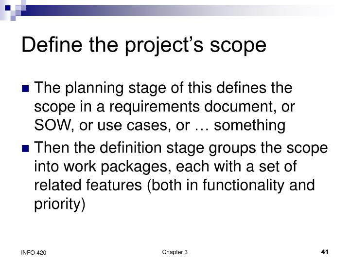 Define the project's scope