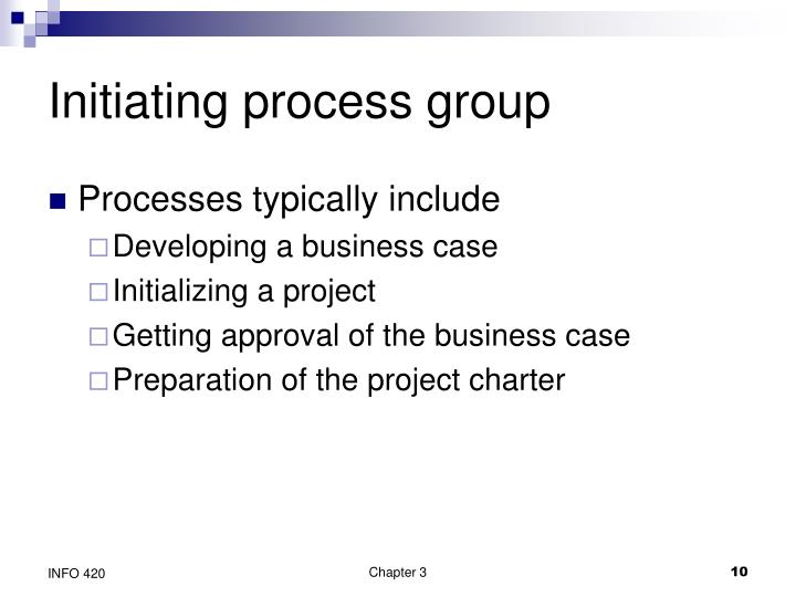 Initiating process group