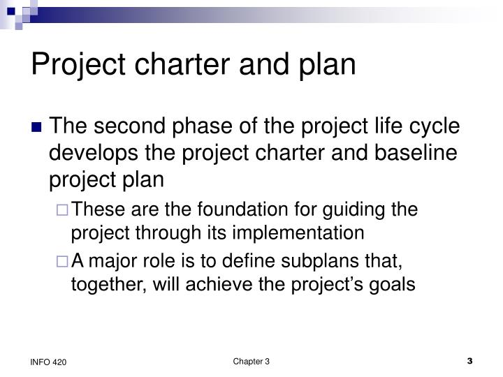 Project charter and plan